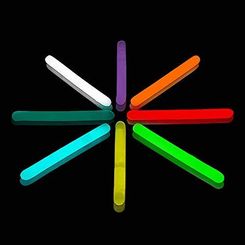 Lumistick 2 Inch Mini Glowsticks - Ultra Bright Glow in The Dark Party Favor Neon Light Stick - Freshly Made Illuminating Water Proof Fluorescent Sticks Brightest 4-6 hrs (Assorted, 100 Glow Sticks)