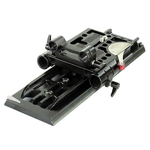CAMTREE Aluminium konstruierte ARRi Standard Stativ Schwalbenschwanzplatte mit 19 / 15mm Stangenadapter, Kamerabasis mit Schnellwechselmechanismus (CH-DTPQ)
