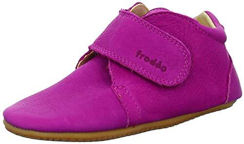 Froddo Leder Babyschuhe Hausschuhe Gummisohle (20, pink)