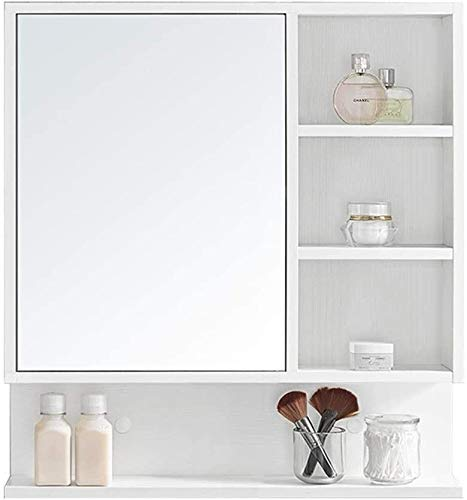 LAMTON Gabinete de Pared de Pared de Pared Cuarto de baño Gabinete de Farmacia Gabinete de Pared de Cocina Espejo de cortesía con Estante de Almacenamiento (Color : Blanc, tamaño : 60 * 13.5 * 78cm)