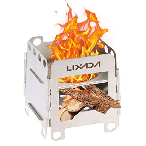 Lixada Camping Stove Wood Burning Stove Portable Stainless Steel Backpacking Stove for Picnic BBQ Camp Hiking