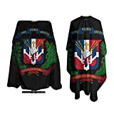 Coat Of Arms Of Dominican Republic Salon Hair Cutting Cape Cloth Barber Hairdressing Wrap Haircut Apron Cloth Styling Accessory For Unisex