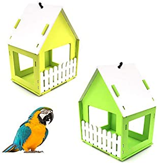 Pajarera / nido, comedero para pájaros, comedero para pájaros, de madera, comedero colgante, casa para pájaros, jardín Wil...