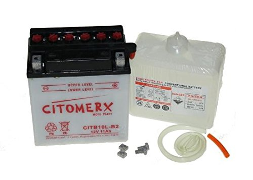 Batterie 12V 11AH für Piaggio Vespa Beverly 125, 200, Carnaby, GT 125L, Hexagon, Liberty, LXV, X7, X8, X9, Suzuki GS 500 (inkl. 7,50 Euro Batteriepfand)