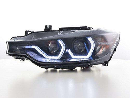 FK Automotive FK Scheinwerfer Set Daylight LED Tagfahrlicht Autoscheinwerfer Frontscheinwerfer schwarz FKSFSBM17025