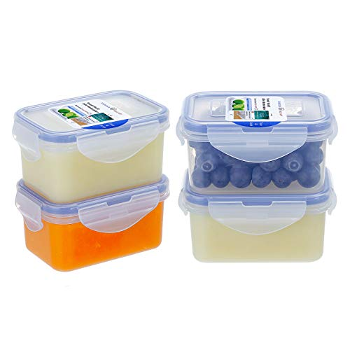 61oz Kids Bento Boxes 4Pack Food Containers for Baby with Lids Leakproof Food Storage Containers for Jam Plastic Daycare Containers Microwave Safe Small Lunch Containers Snack Containers
