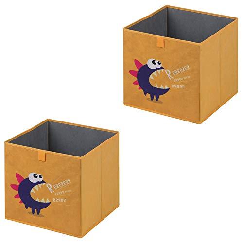 IDIMEX Faltbox Monster-2, Aufbewahrungsbox Ordnungsbox Stoffbox Regalbox, im 2er Pack, für Kinder mit Monster Motiv
