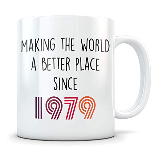 Funny 41st Birthday Gift for Women and Men - 1979 Turning 41 Years Old Happy Bday Coffee Mug - Gag Party Cup Idea for a Joke Celebration - Best Adult Birthday Presents