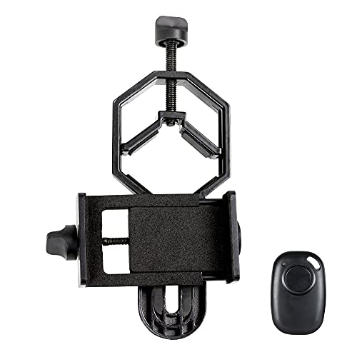 Celestron - Smartphone Adapter DX Kit - Universal Smartphone Adapter - Digiscoping Smartphone Adapter - Bonus Bluetooth Shutter Release Remote