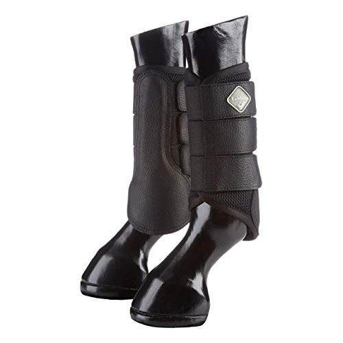 LeMieux ProSport Mesh Pair, Brushing Boots Unisex Adult, Black, Large