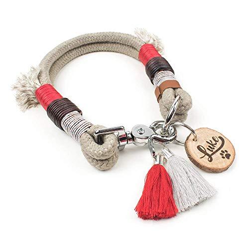 Elegantes Halsband aus Tauwerk von GOLDEN PAW (nur natürliche Materialien, nach Maß & individuell)