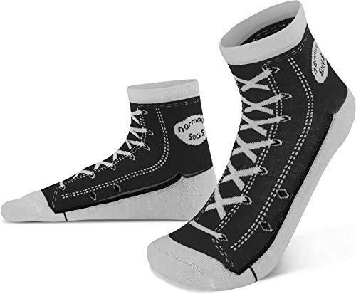 normani 4 Paar Socken im Schuh-Design mit vielen originalgetreuen Details Farbe Schwarz Größe 39/42