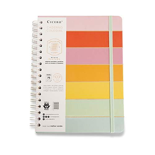 Caderno Wire-o Todas Juntas Pautado, Cicero, 4790, 18x24 Arco Íris, Multicolorido, Grande