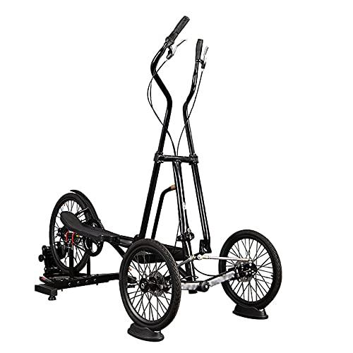 2021 Nueva Bicicleta Estática, Bicicleta De Ciclismo Giratoria Vertical Plegable, Bicicleta De Ejercicios Giratoria Para Interiores Y Exteriores, Máquina Elíptica, Bicicletas Giratorias,Negro,3 speed