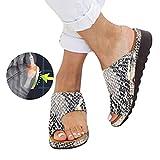XRTJ Corrector Juanetes Sandalias,Verano Mujeres Cómodas Ortopédico pie de Dedo Gordo Chanclas Cuero de PU Plataforma Casual Zapatos