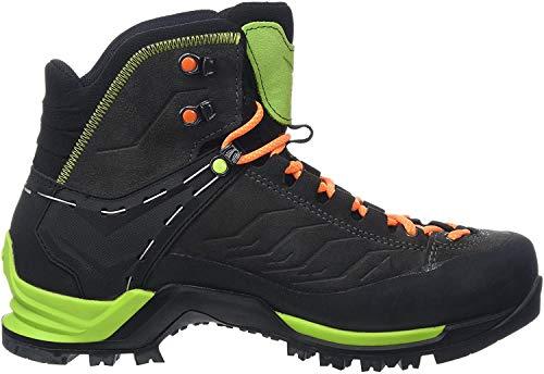 Salewa MS Mountain Trainer Mid Gore-TEX Trekking- & Wanderstiefel, Schwarz (Black/Sulphur Spring 0974), 44.5 EU