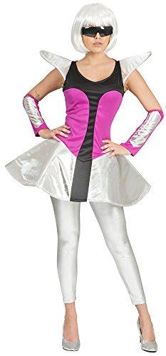 Disfraz de nia espacial Silver para mujer, talla 36 38