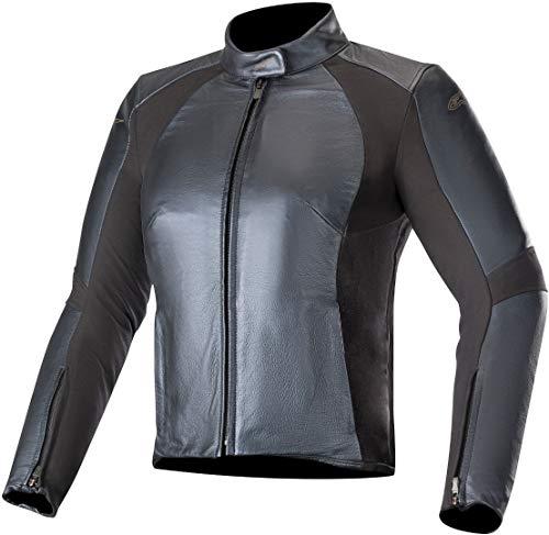 Alpinestars Vika V2 Women's Leather Motorcycle Jacket, Metallic Blue, 42