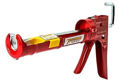 Newborn 102D Drip-Free Smooth Hex Rod Cradle Caulking Gun, 1/10 Gallon Cartridge, 10:1 Thrust Ratio from Newborn Brothers Co., Inc.