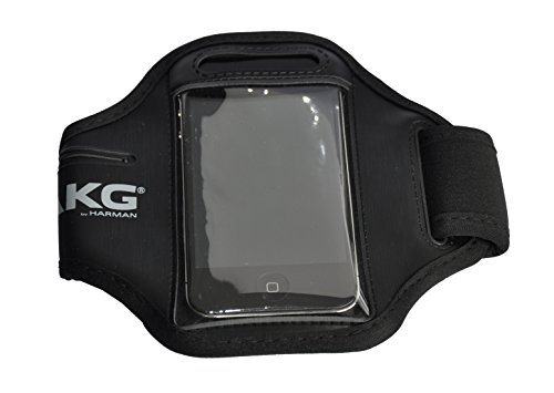 Media Express Fascia Braccio per Cellulare/Smartphone, 5,8 x 12,3 cm, con Scomparto per Chiavi e Monete