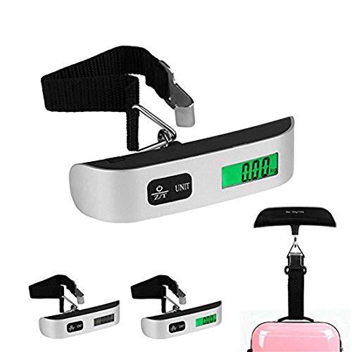 Gepäckwaage, Hostweigh NS-14 LCD tragbar Gepäck Digital Gewicht Gerät 50 kg/10g (50 kg/0.02Lb) Thermometer Digital-Waage Hängewaage für Reisen/Outdoor/Home