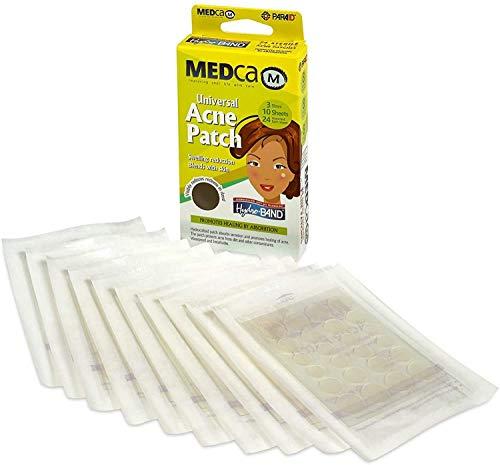 Parche para acné MEDca, cubierta absorbente, paquete de 24, tres tamaños