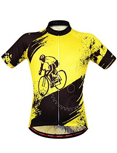 Herren Radtrikot Fahrradbekleidung Kurzarm aus Elastischem Atmungsaktivem Schnell Trockendem Stoff Für Motocross Enduro Offroad Rennrad Radsport Joggen Fitness und Outdoor Sport