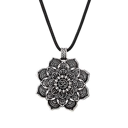 IPOTCH Collar De Mandala De Loto De Yoga Colgante De Protección Budis
