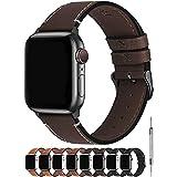 Fullmosa Kompatibel Apple Watch Armband44mm/42mm, Vintage Leder Band für Apple Watch Series...