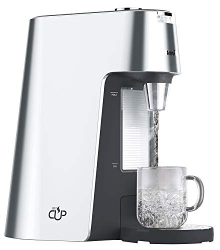 Breville VKT111 HotCup Hot Water Dispenser, 3 kW Fast Boil, Variable Dispense and Height Adjust, 2.0 Litre, Silver
