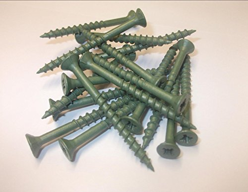 Innovo CSK Lot de 40 vis de terrasse en bois Revêtement vert anti-corrosion 4 x 70 mm
