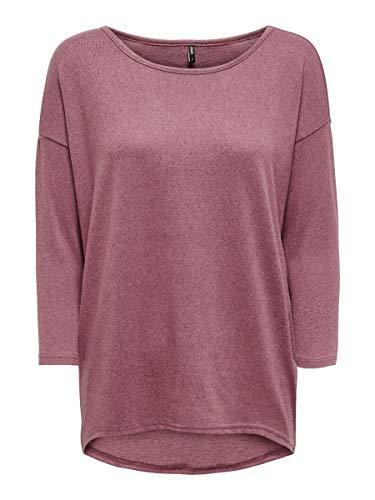 Only onlELCOS 4/5 Solid Top JRS Noos Camisa Manga Larga, Rosa (Mesa Rose Detail:Melange), 42 (Talla del Fabricante: X-Large) para Mujer