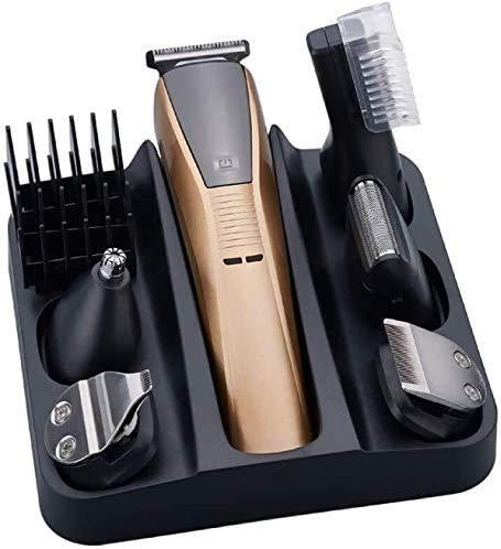 Clipper del pelo eléctrico Pelo profesional Clippers inalámbrico corte de pelo 6 en 1 barba Trimmer de afeitar máquina de la belleza del sistema de herramienta hombres afeitadora eléctrica de los homb