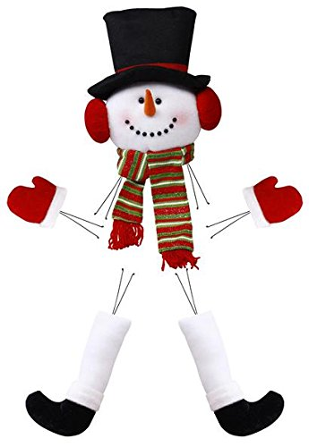 Snowman Head Legs Hands Plush Wreath Embellishment Kit (5 pieces, 28' tall) : XC9902