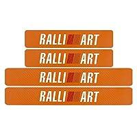 wjyoz 4枚の炭素繊維車の敷居保護装飾ステッカー (Farbname : Orange)