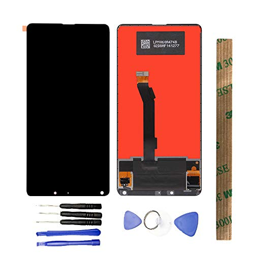 Black MOBILEACCESSORIES for jodnn dian TENGLIN LCD Screen and Digitizer Full Assembly with Frame for Xiaomi Mi 6 Color : Black