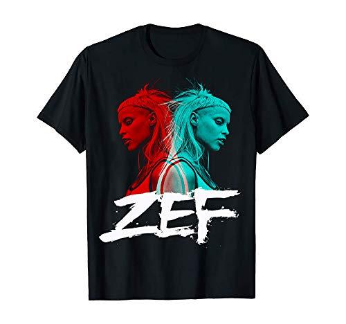 Die Antwoord T-Shirt Zef Life Ninja Rock Star Freaky Yolandi Visser Tees Gr. S, Schwarz