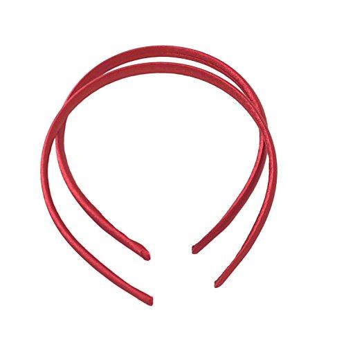 2Stück Back to School Satin Haarband Stirnband ca.. 1cm breit - Weinrot