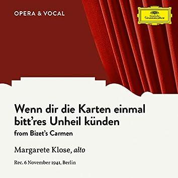 Bizet: Carmen, WD 31: Wenn dir die Karten einmal bitt'res Unheil künden (Sung in German)