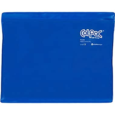 Chattanooga ColPac Reusable Gel Ice Pack Cold Therapy for Knee, Arm, Elbow, Shoulder, Back for Aches, Swelling, Bruises, Sprains, Inflammation (11 x14 ) - Blue