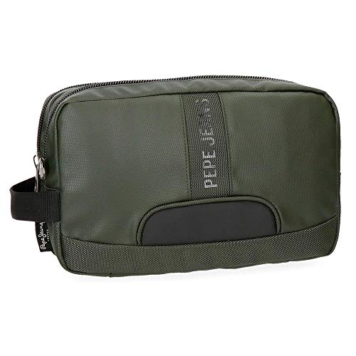 Neceser Pepe Jeans Bromley Verde adaptable a trolley