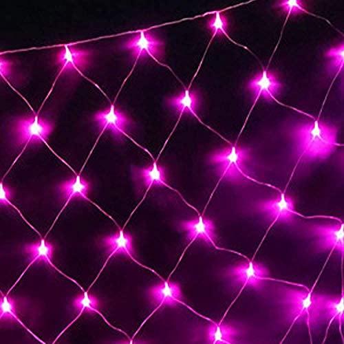 DYB Led Net Mesh Fairy String Luces Decorativas 6m * 4m - Envoltura de árboles de Navidad Boda Jardín Hogar Interior Decoraciones al Aire Libre (Color: Rojo, Tamaño: 10 * 8M-220V)