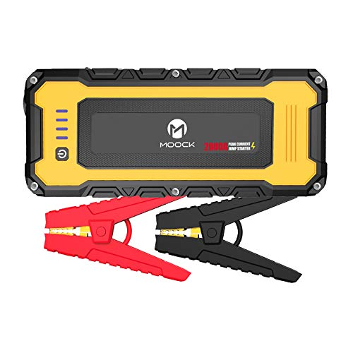 MOOCK 2000A Peak 20800mAh Lithium Car Jump Starter for Up to 10.0L Gas or 7.0L Diesel Engine, 12V Auto Battery Booster Pack Portable Phone Charger with USB Charge, Built-in LED Light