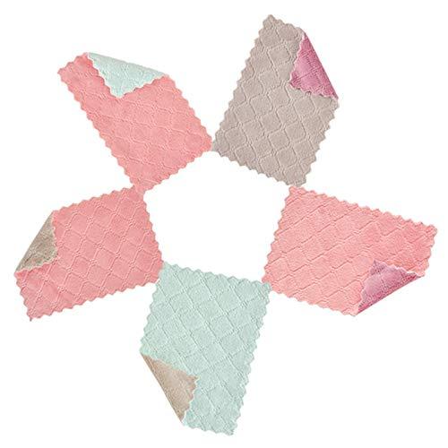 LiShiRong Trapo Multiuso Toallas algodón multifunción para 5 Toallas de Cocina, paños de Cocina Servilletas a Cuadros, paños de Cocina Fácil de Limpiar, Duradero y fácil de Usar.(6.29 x 10.6in)