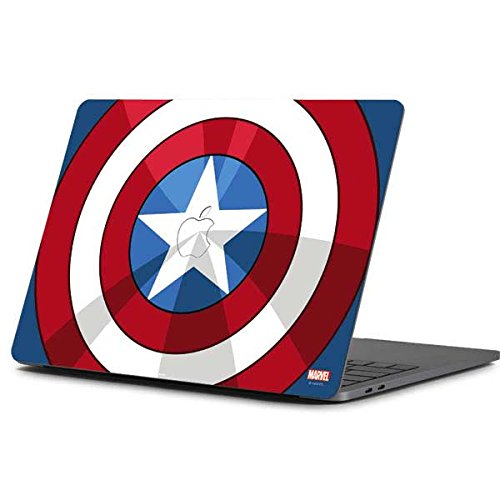 Skinit Decal Laptop Skin for MacBook Pro 13-inch (2016-17) - Officially Licensed Marvel/Disney Captain America Emblem Design