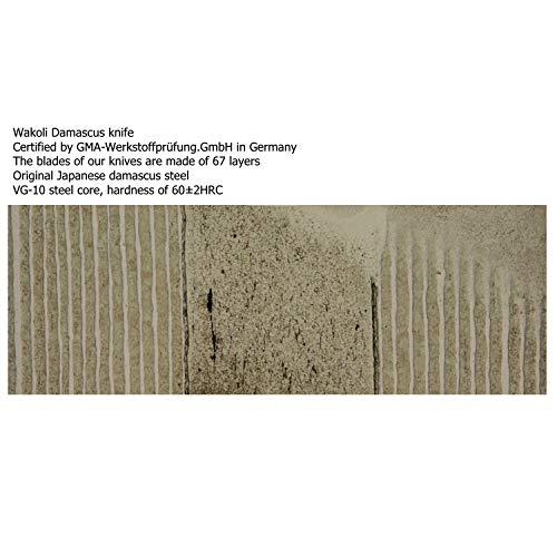 Wakoli 3DM-MIK 3er Damastmesser Set - 3