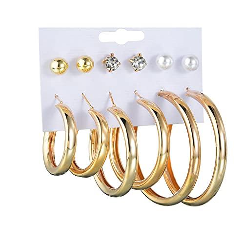1 pieza de piercing de oreja para mujer, pendientes de aro con diseño de hip hop