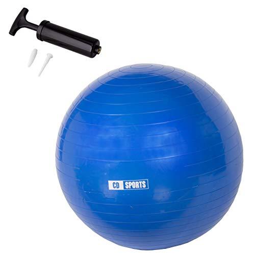 Calma Dragon Pilates Ball 55cm   65cm   75cm di Diametro, Palla per la Gravidanza, Fitball, con infiammatore Incluso, Big Ball per Lo Yoga, Ginnastica, Fitness (Blu, 55)
