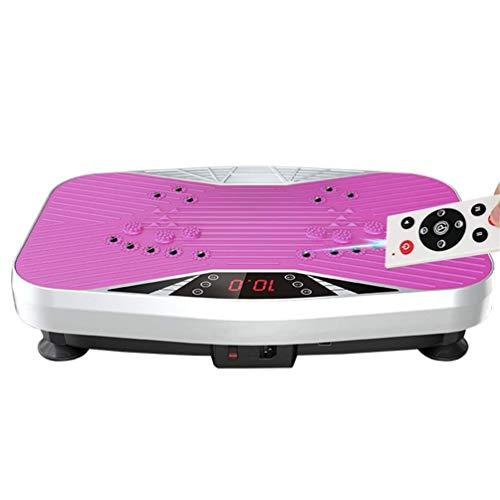 HFYAK Máquina Vibratoria, Masajeador Oscilante Plataforma Entrenadora para Adelgazar Power Plate Gym Machine 99 Niveles para Perder Peso Tonificación Corporal, Pink