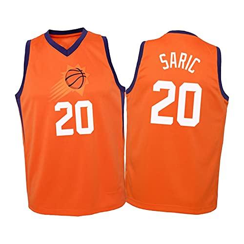 XXXD Saric # 20 Chaqueta Sol Camiseta Sudadera Chaleco Ropa Suelta cómoda Transpirable Ciudad versión Baloncesto Jersey S